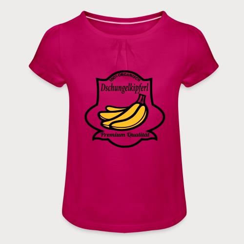 Dschungelkipferl - Mädchen-T-Shirt mit Raffungen