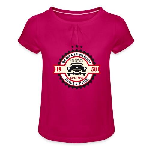 Hot Rod and Kustom Garage - Mädchen-T-Shirt mit Raffungen