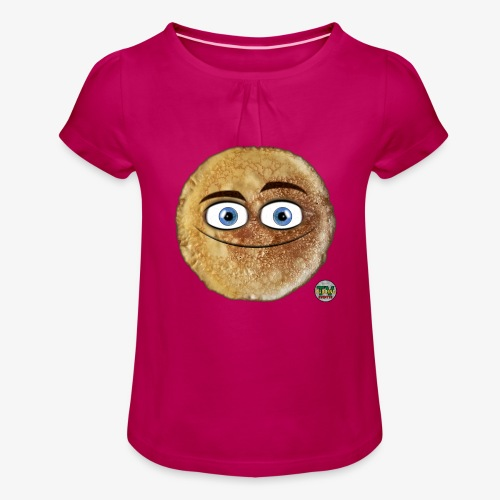 Pannekaka - Jente-T-skjorte med frynser