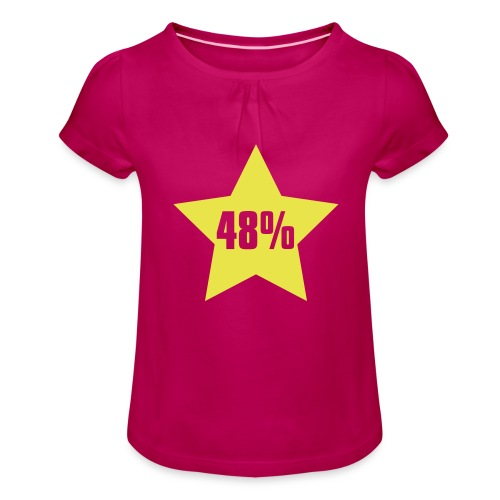 48% in Star - Girl's T-Shirt with Ruffles