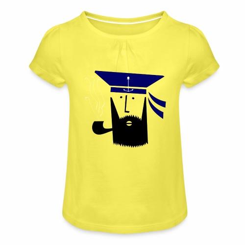 Matrose - Mädchen-T-Shirt mit Raffungen