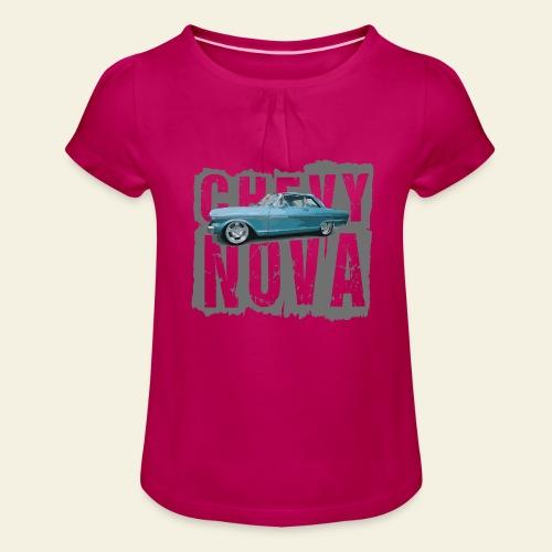 nova - Pige T-shirt med flæser