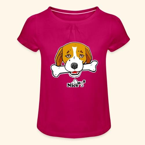Nice Dogs Semolino - Maglietta da ragazza con arricciatura