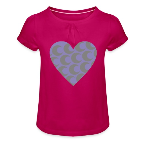 corazon3 - Camiseta para niña con drapeado