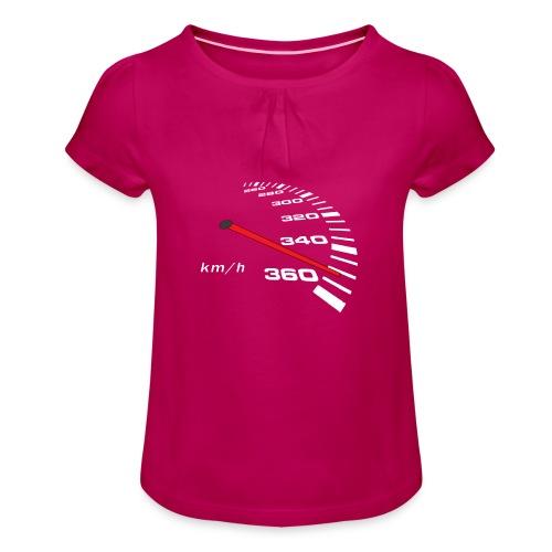 Turbo Tacho Extrem Tuning - Mädchen-T-Shirt mit Raffungen