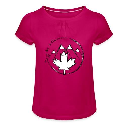 Canada - Mädchen-T-Shirt mit Raffungen
