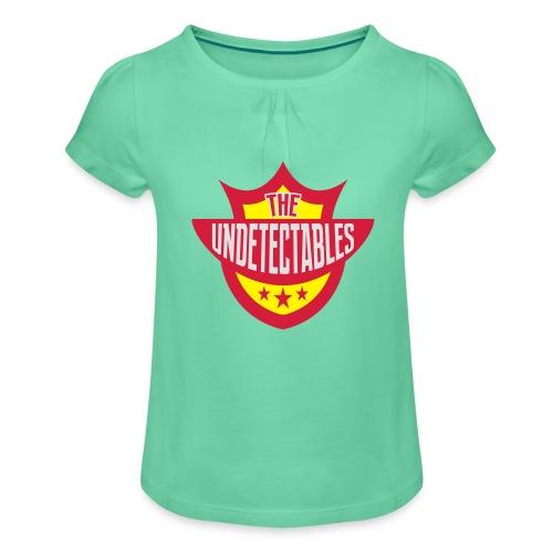 Undetectables voorkant - Meisjes-T-shirt met plooien