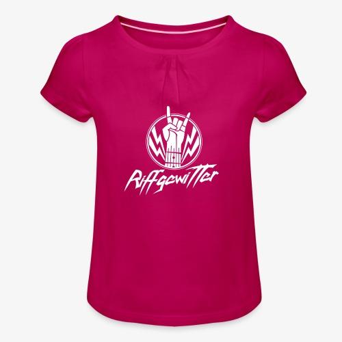 Riffgewitter - Hard Rock und Heavy Metal - Mädchen-T-Shirt mit Raffungen