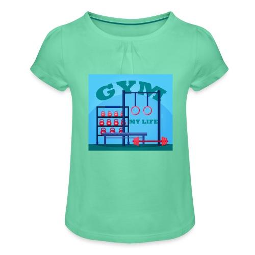 GYM - Tyttöjen t-paita, jossa rypytyksiä