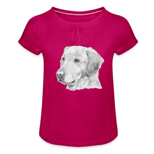 Golden retriever 2 - Pige T-shirt med flæser