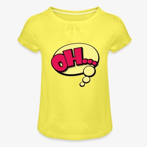 Serie Animados - Camiseta para niña con drapeado