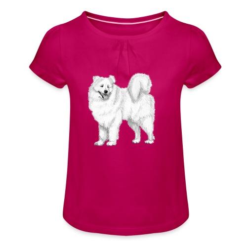 samoyed - Pige T-shirt med flæser
