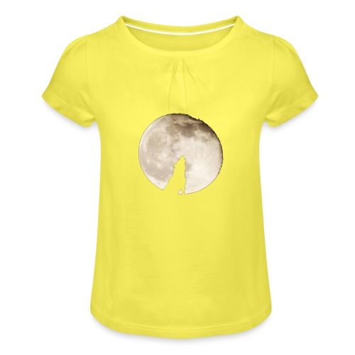 The wolf with the moon - T-shirt à fronces au col Fille