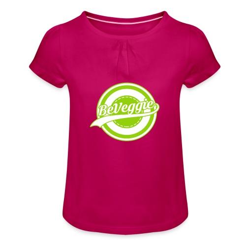 Be Veggie Veganer Statement - Mädchen-T-Shirt mit Raffungen