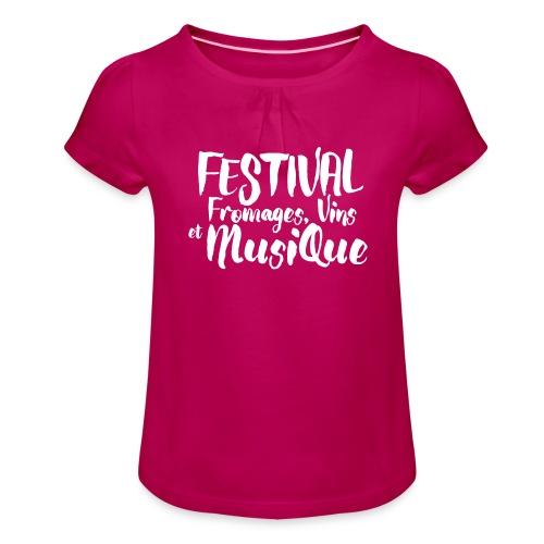 Festival FVM - T-shirt à fronces au col Fille
