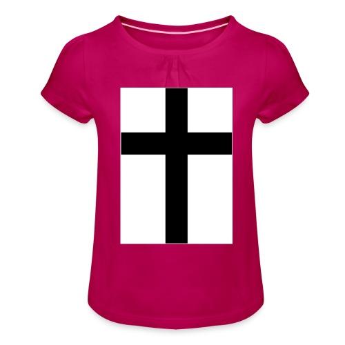 Cross - T-shirt med rynkning flicka