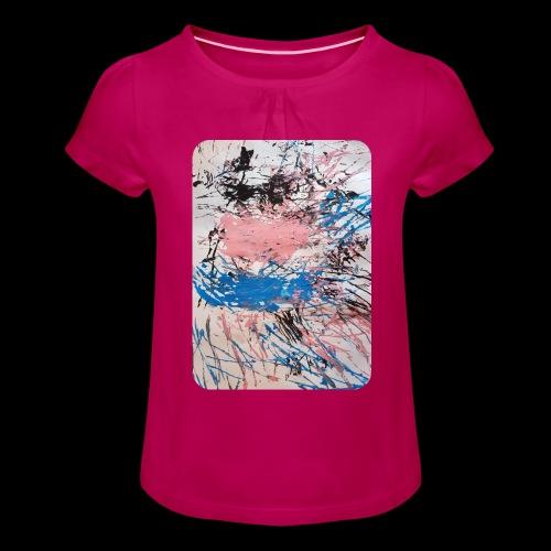 Emelie Kunstwerk V. - Mädchen-T-Shirt mit Raffungen