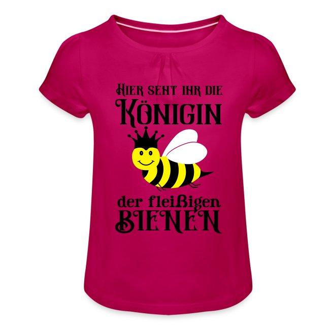 Danke Sagen Fleißige Biene Königin Spruch Mädchen T Shirt Mit Raffungen