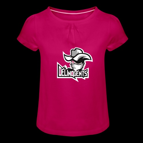 Delinquents TriColor - Pige T-shirt med flæser
