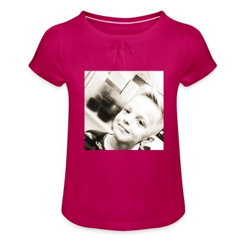 IMG 20180511 143458 276 - Mädchen-T-Shirt mit Raffungen