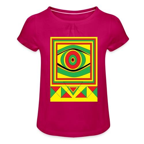 ALL seeing eye RASTA burn down babylon Original - Meisjes-T-shirt met plooien
