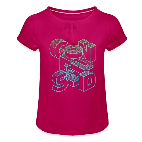 Confused - T-shirt med rynkning flicka