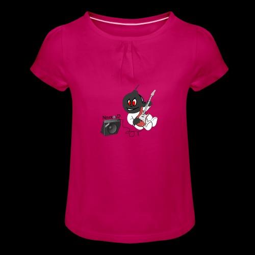 logo guitar - T-shirt à fronces au col Fille