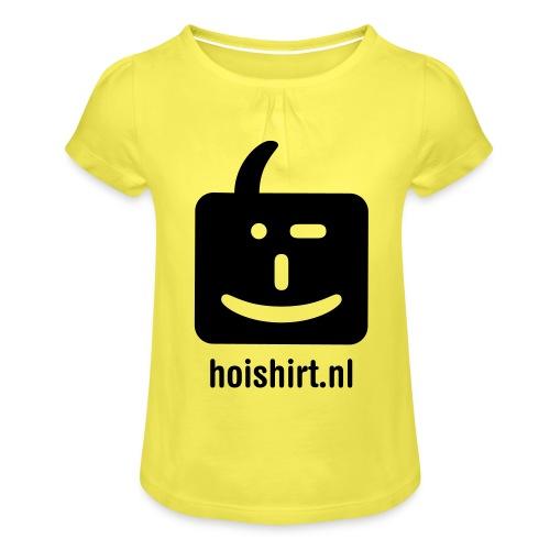 hoi back ai - Meisjes-T-shirt met plooien