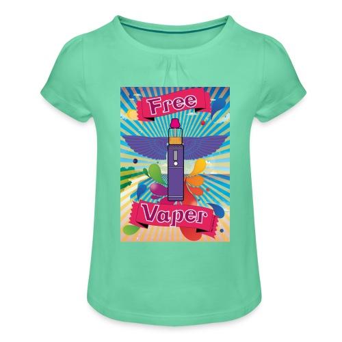 hawai png - T-shirt à fronces au col Fille