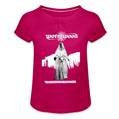 Women's Witch Print - Girl's T-Shirt with Ruffles