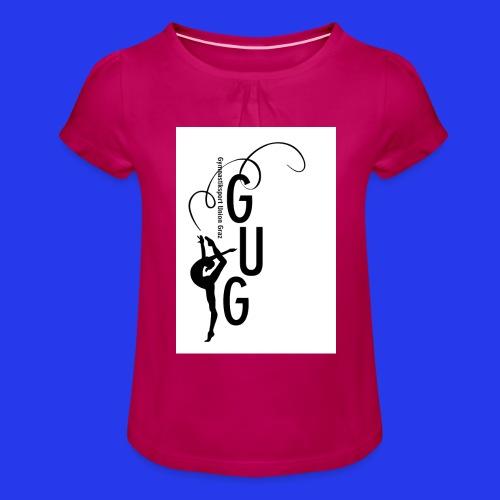 GUG logo - Mädchen-T-Shirt mit Raffungen
