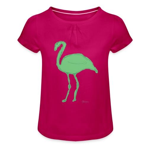 flamenco - Camiseta para niña con drapeado