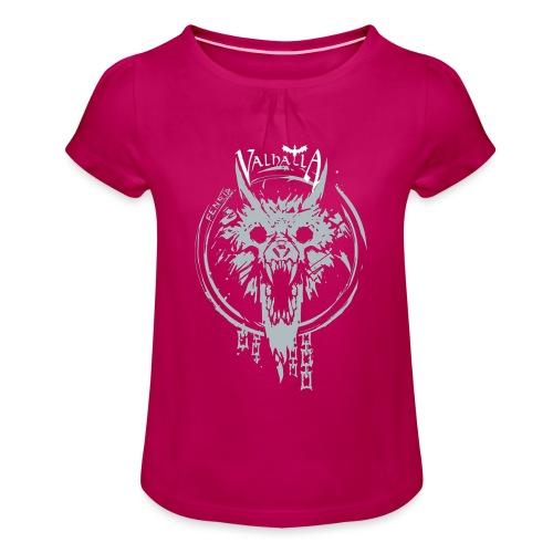 Valhalla Fenrir - Pige T-shirt med flæser