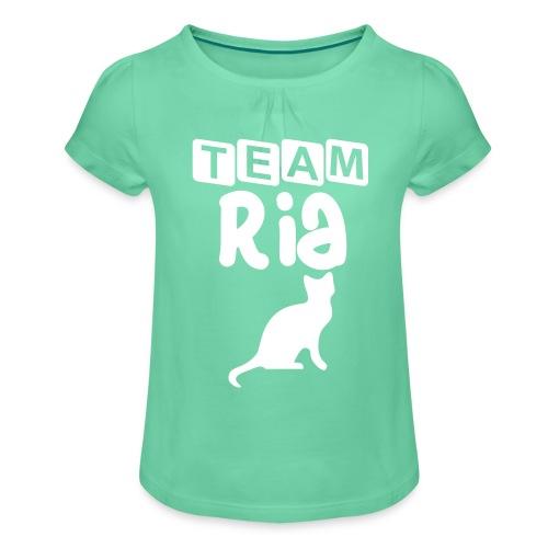 Team Ria - Girl's T-Shirt with Ruffles