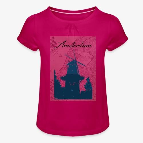 Amsterdam city - Maglietta da ragazza con arricciatura