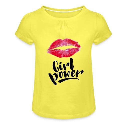 Girl Power - T-shirt à fronces au col Fille