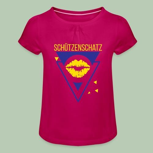 Schützenschatz - Mädchen-T-Shirt mit Raffungen