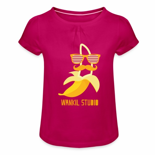 Hipster Banana - T-shirt à fronces au col Fille