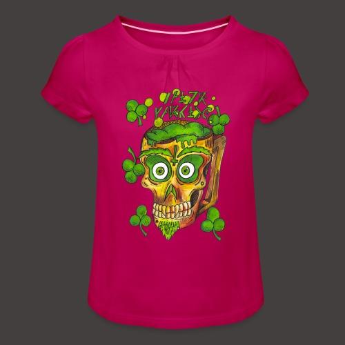 St Patrick - T-shirt à fronces au col Fille