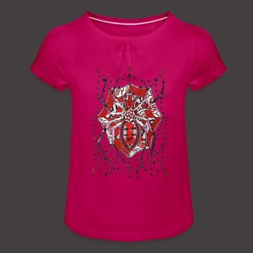 Spider Dentelle Red - T-shirt à fronces au col Fille