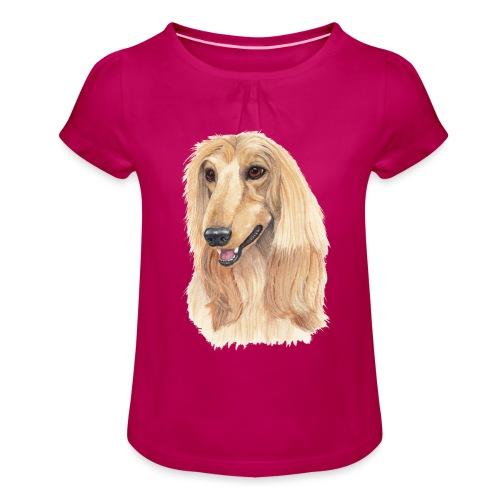 afghanskMynde- A - Pige T-shirt med flæser