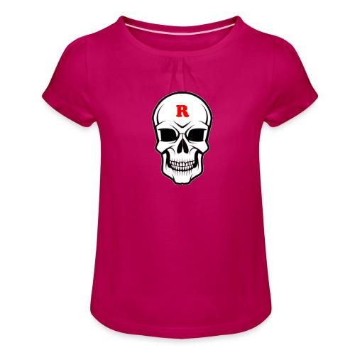 R-Skalle - T-shirt med rynkning flicka