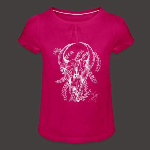 Le Taureau - T-shirt à fronces au col Fille