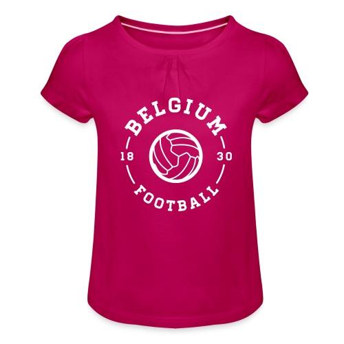 Belgium football - Belgique - Belgie - T-shirt à fronces au col Fille