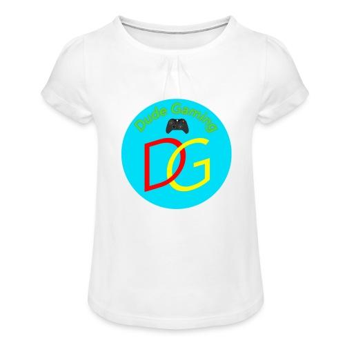 Dude Gaming - Pige T-shirt med flæser