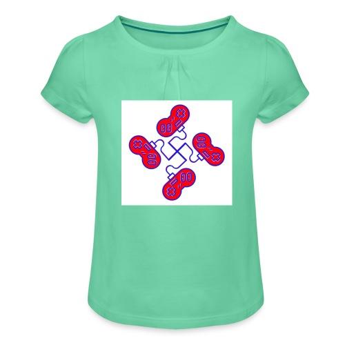 unkeon dunkeon - Tyttöjen t-paita, jossa rypytyksiä