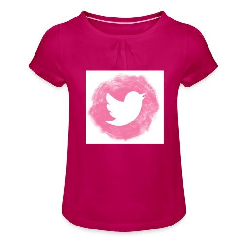 pink twitt - Girl's T-Shirt with Ruffles
