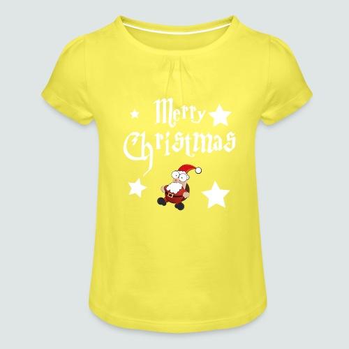 Merry Christmas - Ugly Christmas Sweater - Mädchen-T-Shirt mit Raffungen