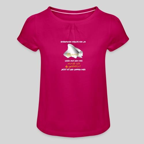 eigentlich wollte ich ja putzen originelle Ausrede - Mädchen-T-Shirt mit Raffungen