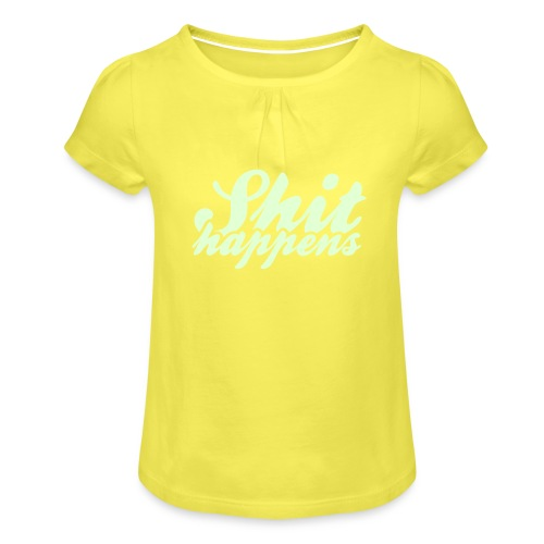 Shit Happens and Politics - Girl's T-Shirt with Ruffles
